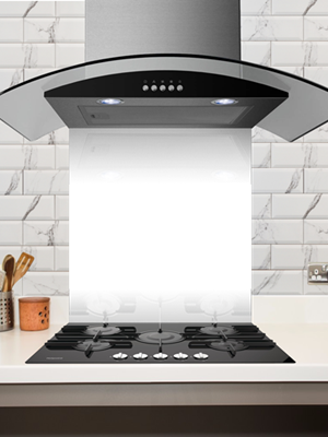 BLACK 600MM X 750MM KITCHEN SPLASHBACKs